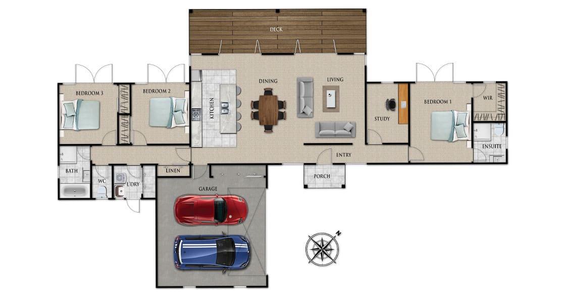 Fowler Homes Home Builder New Zealand - Favourites Plans Range - Annisbrook