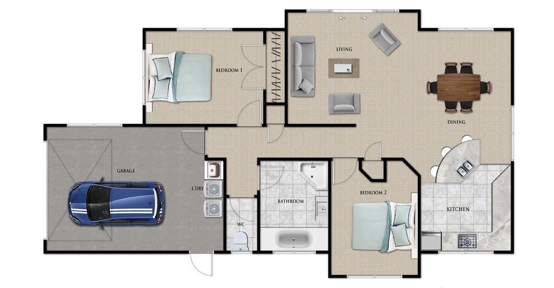 Fowler Homes Home Builder New Zealand - Favourites Plans Range - Frankton