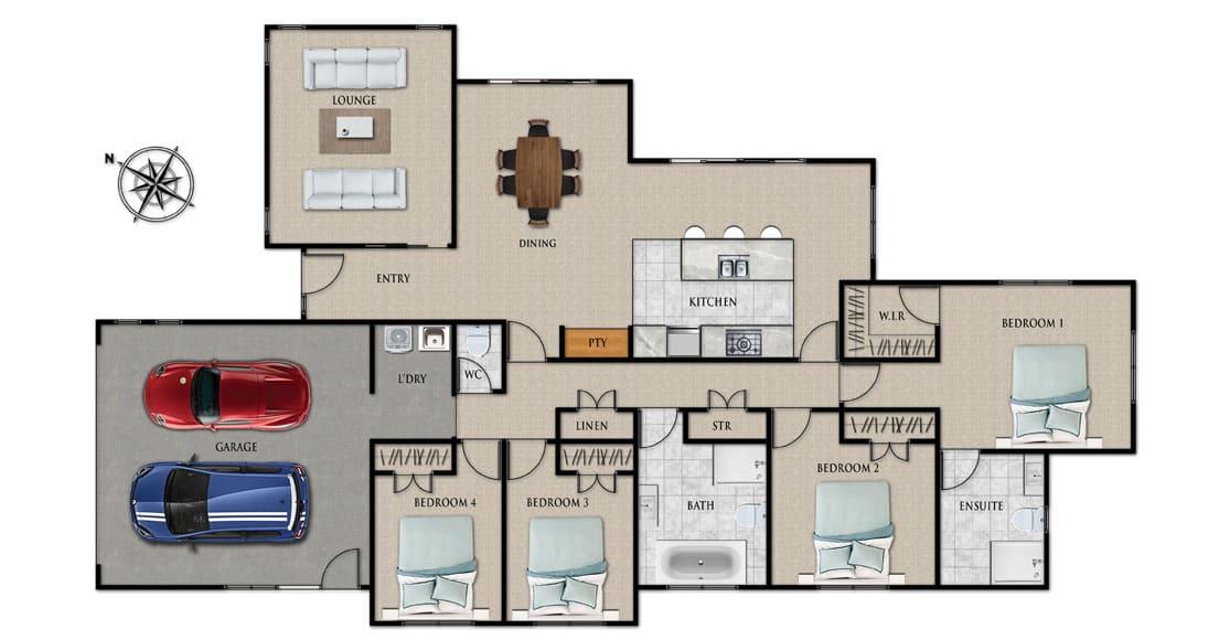 Fowler Homes Home Builder New Zealand - Favourites Plans Range - Highbury