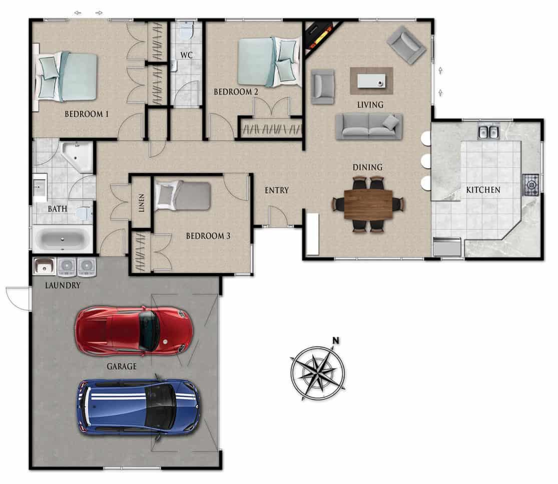 Fowler Homes Home Builder New Zealand - Favourites Plans Range - Kelvin Grove