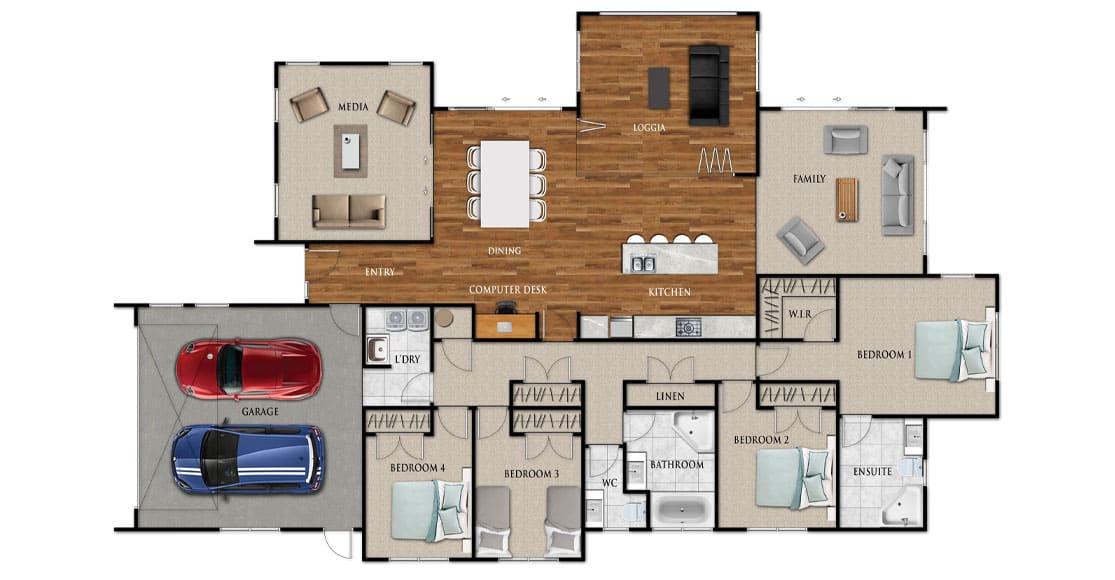 Fowler Homes Home Builder New Zealand - Favourites Plans Range - Bellevue