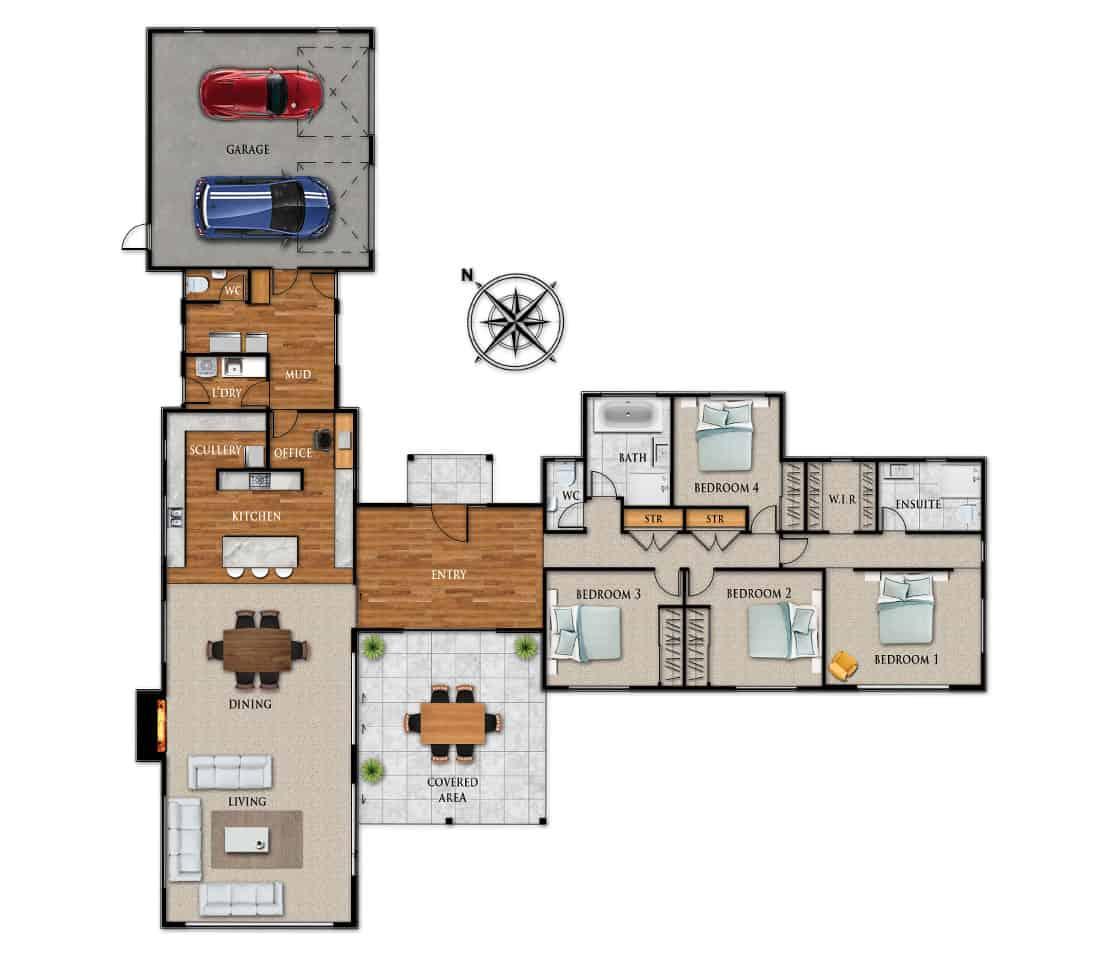 Fowler Homes Home Builder New Zealand - Favourites Plans Range - Coldstream